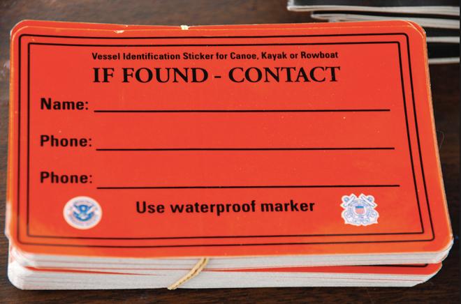 Orange If Found Contact Stickers Waterproof Kayak Canoe Lost 3 Pack